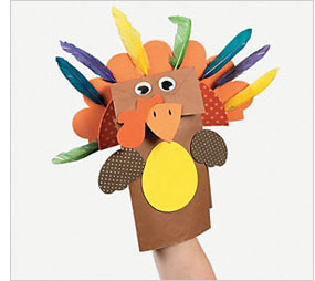 Kids holiday entertainment: Paper bag puppets