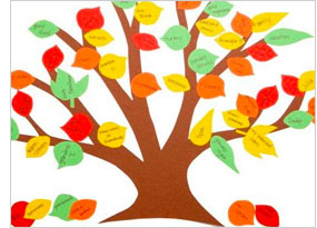 Kids holiday entertainment: handmade family tree