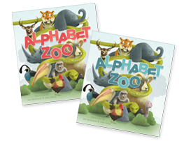 Alphabet Zoo, a new educational book for toddler boys and girls