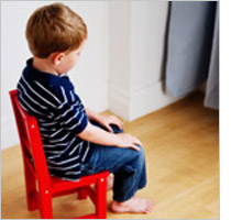 "Child on a ""time out"""