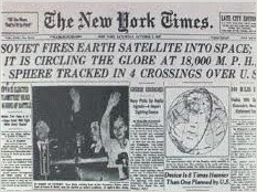New times: Soviets launch the first satellite into space