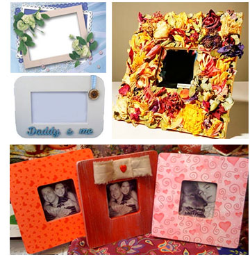 Handmade personalized picture frames