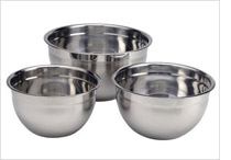 Bowls of different sizes filled with water