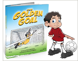 Little Heroes personalized children's soccer book, The Golden Goal